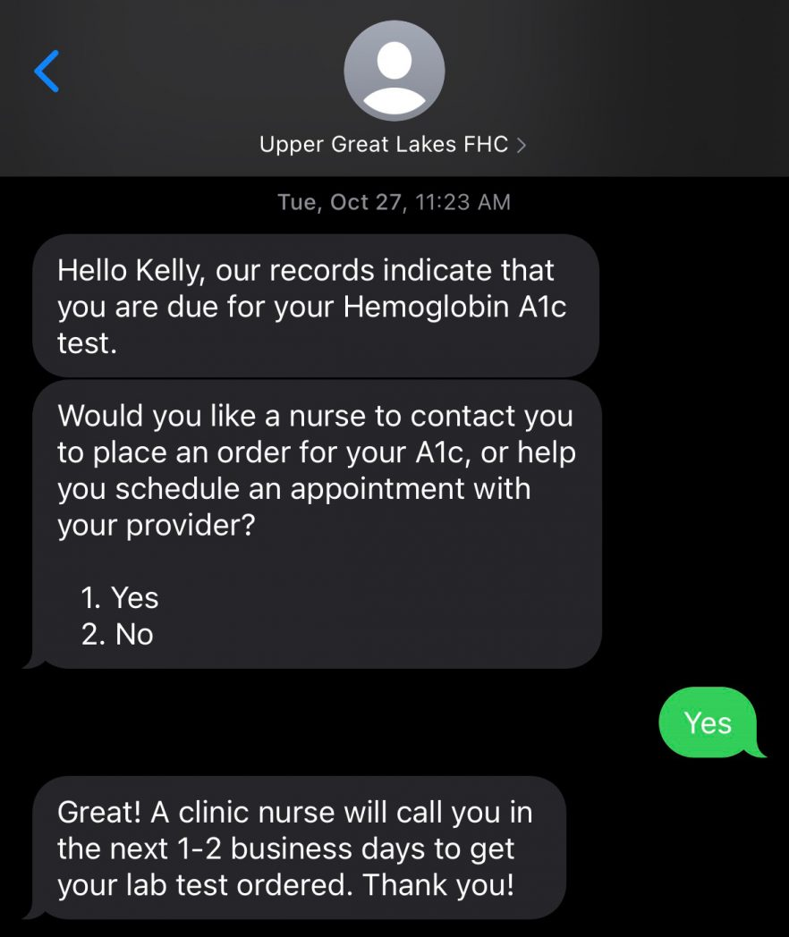 HealthTalk Screenshot